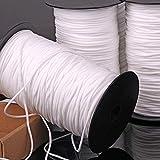 Perlin Gummiband Gummi weich Gummilitze Kordel für Masken Mundschutz Ø 3mm elastisch-rund Weiß (5)