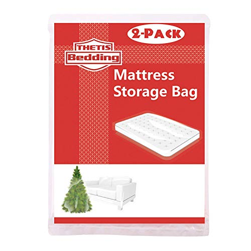 THETIS Homes 2 Pack Mattress Bag for Moving and Storage, Queen Size, 76 x 96 inch