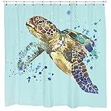 Schildkröte Splash Duschvorhang von Sharp Shirter, Polyester, multi, 180 cm x 188 cm(Standard)