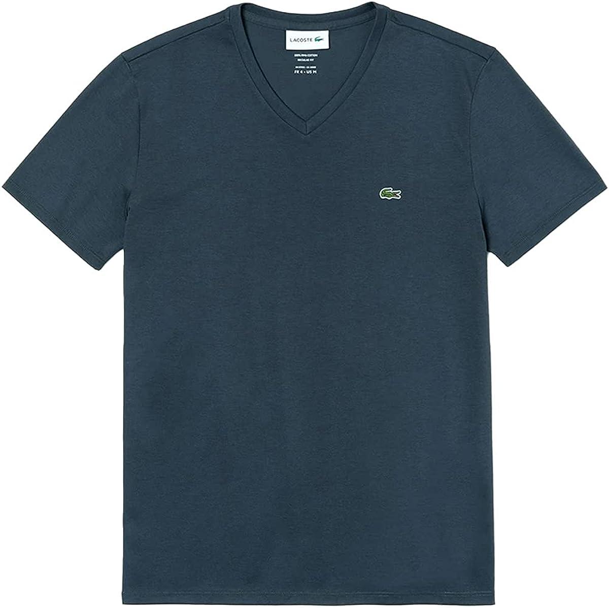 Cheap bargain Lacoste Mens V-Neck Pima Cotton Ranking TOP3 Sleeve T-Shirt TH6710 Short