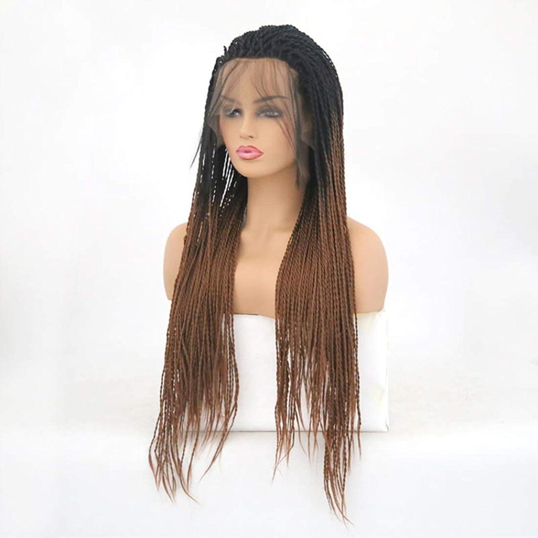 生じる主要なファウルKoloeplf ツイストブレイドかぎ針編みブレイドヘアエクステンション事前ループ女性用高温繊維