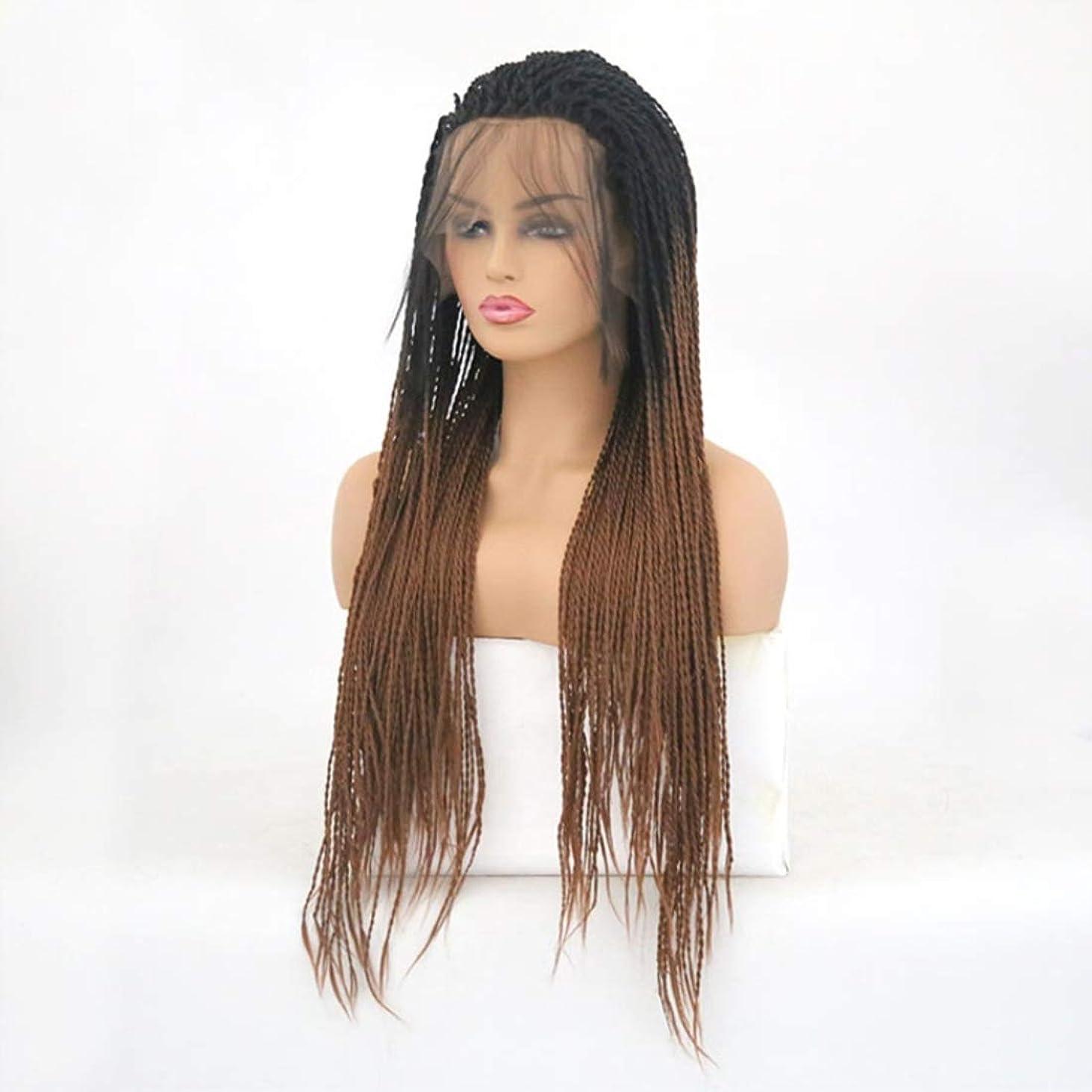 解決リブさせるSummerys ツイストブレイドかぎ針編みブレイドヘアエクステンション事前ループ女性用高温繊維