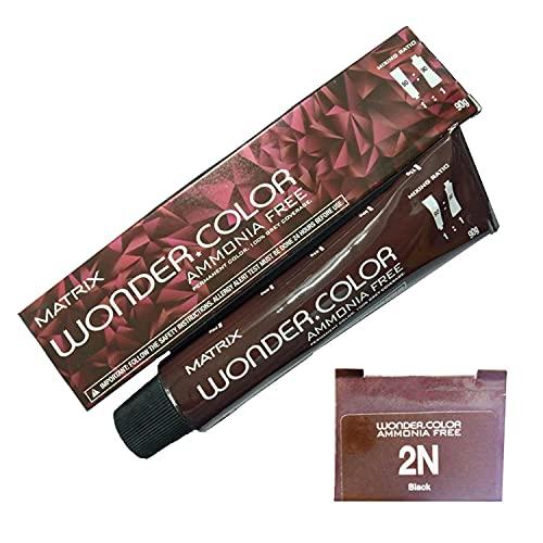 IJI Matrix Wonder Color 2N (Pack of 3) | Black | 90G | Ammonia Free | Permanent Color