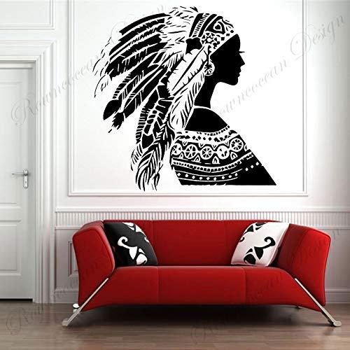 JXFM DIY Mujer Pegatina de Pared Vinilo decoración del hogar Sala de Estar Dormitorio decoración calcomanía extraíble Mural Interior Color o tamaño Personalizado