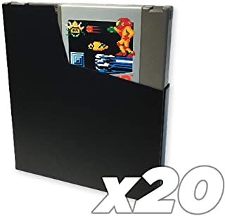 Old Skool 20 package Cartridge Dust covers for USE with Nintendo NES game Cartridges, Dust Protection Sleeves - Black