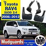 SYJY-SHOP Mud Flaps Coche Auto Moldeados Guardabarros Sólo for RAV4 2006-2012 / XA30 2.4 / Frontal y Posterior 4 Piezas Set