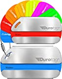 Durotag Luggage Tags for Travel Personalized Custom Stainless Steel Travel Bag Tag ID 2 Set