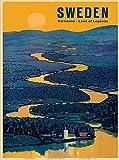 ABLERTRADE Aablrade Blechschild, 20,3 x 30,5 cm, Schweden