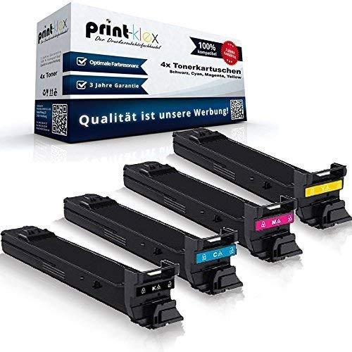 kompatibler XXL Tonerkartuschen Set für Konica Minolta Magicolor 4650 4650DN 4650EN 4690 4690MF 4695 4695MF - Toner Set (alle 4 Farben)