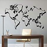 Personalidad Tridimensional Mapa del Mundo Vinilo Pared calcomanía Sala de Estar decoración del hogar Arte Papel Pintado Etiqueta de la Pared 68x42cm
