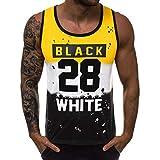 Camisetas Elástica de Fitness sin Mangas Tank Top Gym para Hombre Camisa sin Mangas con Cuello...
