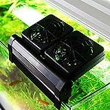 cjcaijun Control de Temperatura Acuario Ventilador de refrigeración del Acuario Cold Wind Chiller Productos de Control de Temperatura Ajustable Nivel 2 del Viento 1/2/3/4 Aficionados (Size : 4 Fans)