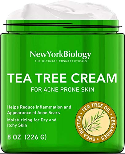 Tea Tree Oil Face Cream for Acne Prone Skin Care - Moisturizing Dry and Itchy Skin - Therapeutic Grade - 5% Tea Tree Oil Face Cream for Women and Men - 8 oz- Packaging May Vary