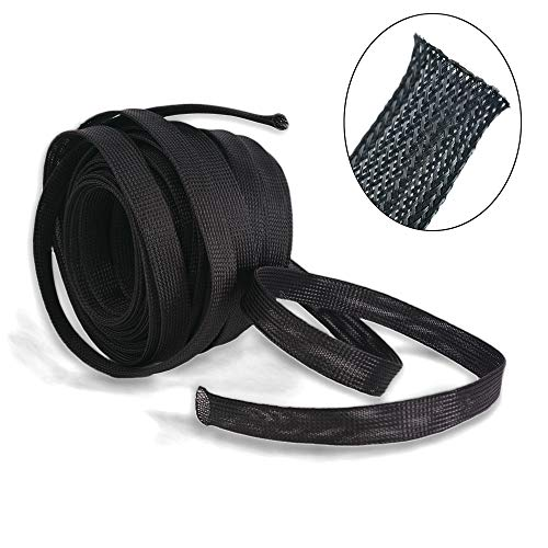 Wang-Data PET Black Cable Sleeve 1 inch X 100ft (1
