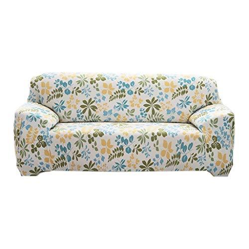 Ericcay Universal Landhaus Stretch Sofabezüge Sofahusse Couch Husse Weich Und Unikat Beque Für 3Er Sofa Continental Rosa 190 230Cm (Color : Hawaii Blau-Grün, Size : 190-230Cm)