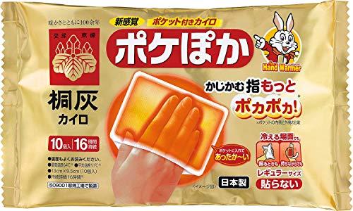桐灰化学 ポケぽか ポケット付きカイロ 指先を温める レギュラーサイズ 貼らないカイロ 10個入