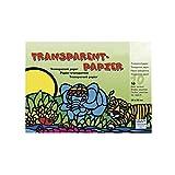 Rayher 81005000 Transparentpapier, 10 Farben, 20x30cm, 42g/m2, Block 1