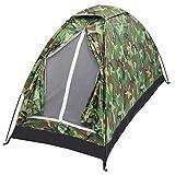Tente de camping portable - Tente de camouflage résistante aux UV et étanche - Tente dôme avec porte zippée et ventilation - Tente familiale idéale pour la pêche et la randonnée (200 x 100 x 100 cm)