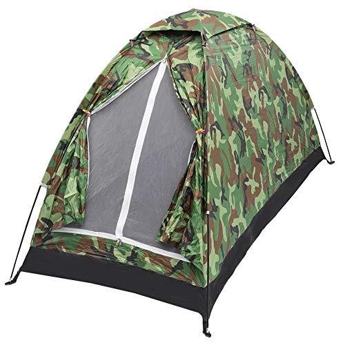 Tienda de campaña, compacta, portátil, resistente al viento y al agua, ligera, adecuada para 1 persona, senderismo, al aire libre, camping, mochilero, supervivencia, viaje