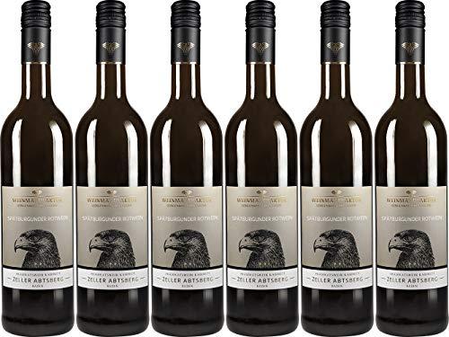 Weinmanufaktur Gengenbach Zeller Abtsberg Spätburgunder Rotwein Kabinett 2018 Halbtrocken (6 x 0.75 l)
