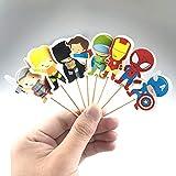 24 PC Cartoon Superhero Avengers Cupcake...