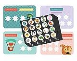 Belohnungssystem - Töpfchentraining Kind (10 Stickerkarten Doppelseitig, 120 Sticker und Pipi-Zeugnis) - Belohnungstafel für das Sauberkeitstraining - Trocken werden