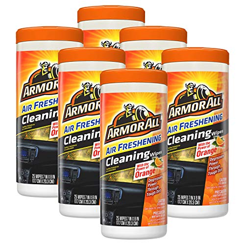 Armor All 78509 Car Interior Cleaner Protectant Wipes 25 Count Cleaning for Cars & Truck & Motorcycle, Cool Mist ( 6 count )