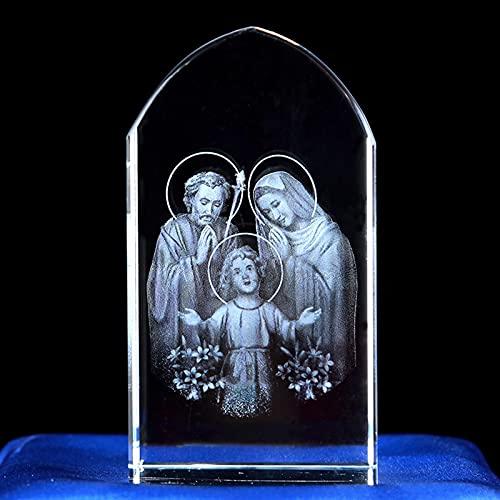 Cubo Grabador Artesanías De Cristal Jesús Ángel Virgen María Estatua Ortodoxia Decoración...