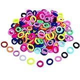 200 Piezas de Mini Gomas de Pelo de Colores Variados Banda Elástica de Pelo de Chica Niña Cinta de Goma Suave Minúscula para las Niñas Bebés