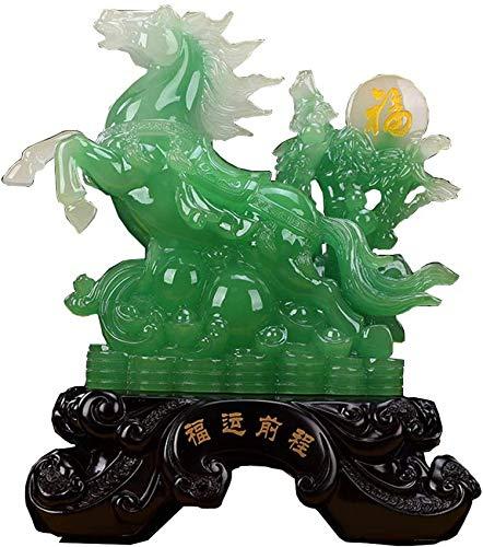 Equipo de Vida Estatua de Caballo Grande Figura Riqueza Feng Shui Adornos de Resina Símbolo de éxito Escultura Decoración Inauguración de la casa Regalo de felicitación
