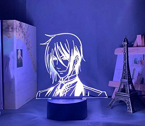 Baby Spielzeug Luz de noche 3D ilusión dibujos animados anime personaje lámpara con control remoto USB 16 colores luces LED con Touch Butoon lámpara de escritorio decoración del hogar