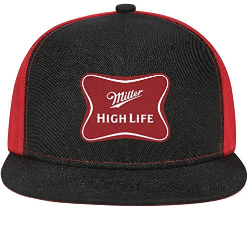 ftuyuy erett Unisex Miller-Brewing-Company-High-Life-Beer-Logo- Fitted Caps Visor Hats