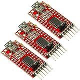 Rasbee 3個 FT232RLモジュール 国内在库 FTDI 5V 3.3V FTDI USB TTL変換アダプタ USB to TTL シリアル コンバーター アダプター モジュール USBシリアル ミニ USB-TTL シリアル アダプタ 並行輸入品