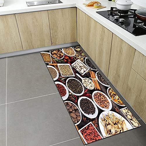 OPLJ Alfombrillas de Cocina Modernas, alfombras de Puerta de Entrada para decoración de Sala de Estar de Dormitorio en casa, alfombras absorbentes Antideslizantes para baño A4 50x160cm