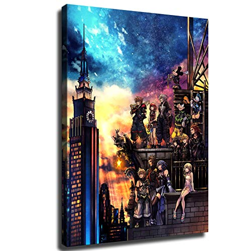 Xishang Art For Kingdom Hearts III Canvas Prints Video Game Poster Wall Art for Home Office Decorations unframed 10'x8'