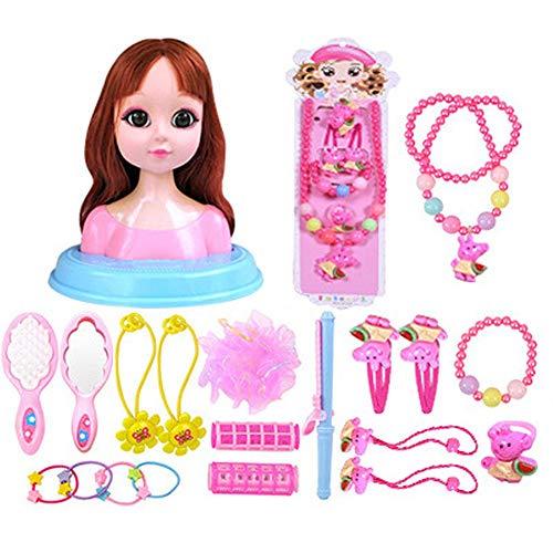 Poupée Playset Girl Princess Styling Head Ensemble De Maquillage pour Poupée pour Enfants Et Poupées