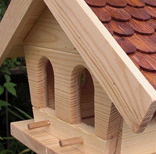 Vogelhaus-XL Braun- Vogelhäuser-(V013)- Vogelfutterhaus Vogelhäuschen-aus Holz - 3