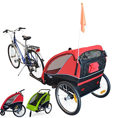 PAPILIOSHOP B-FOX Fietskar/Wandelwagen voor 1 of 2 Kinderen Inklapbare