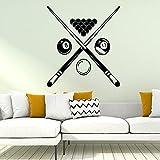 Diy billar pared arte calcomanía niños habitación Mural Pvc pegatina de pared vinilo billar pegatina de pared A6 42x46cm