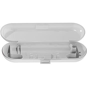 shyymaoyi - Estuche de viaje para guardar el cepillo de dientes eléctrico Oral-B, estuche portátil en colores lisos, blanco: Amazon.es: Jardín