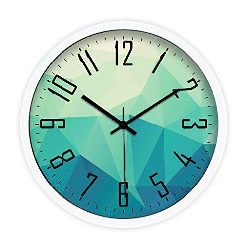 Reloj de pared decorativo Personalizado circular mudo polígono geométrico patrón salón despertador,...