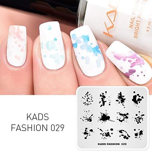 KADS Nail Art Stempeln Fashion Series Stamping Vorlagen Manicure Print Bildvorlagen (FA029)