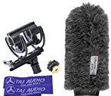 Rycote 18cm Classic-Softie (24/25) Universal Shock Mount for Sennheiser MKH60 with (2) TAI Audio Cable Straps
