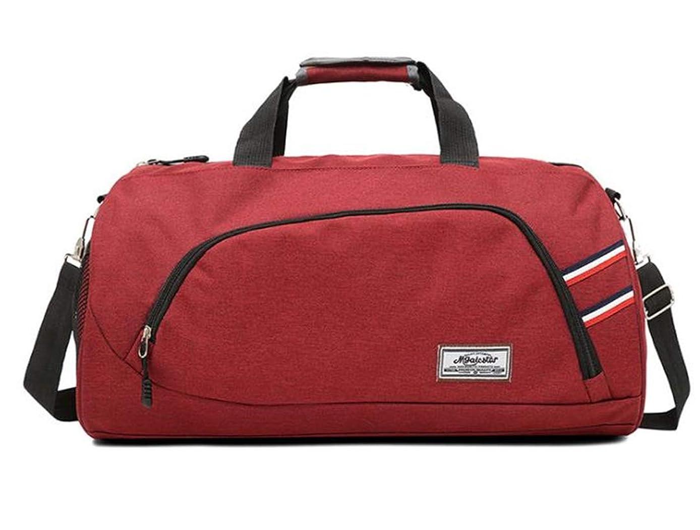 Large Capacity Canvas Travel H bag Casual Men Luggage Duffle Shoulder Bag Big Tote Crossbody Bag Red