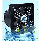 Standard-Abluftventilator 350 mm, Abluftventilator Leise, Badlüfter Wandventilator mit Nachlauf, Wandlüfter Ventilator Einbaulüfter, Badlüfter Lüfter Ventilator Deckenlüfter,3M-pipe