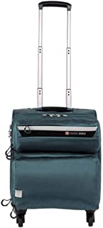 Trolley Case Business Suitcase, Mute Caster Oxford Waterproof Case 17-inch (Color : Green, Size : 17-inch)