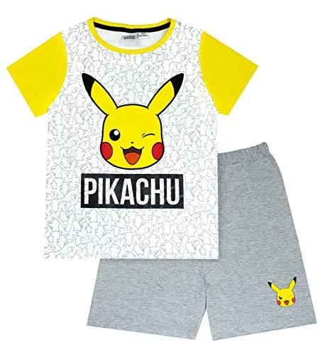 Breve Pijamas de Pokemon Pikachu Cara Gris del Amarillo del