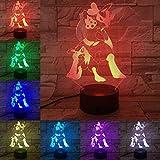 Artoon 3D lumière Pokemon X jeu numérique Mega Lucario veilleuse LED ampoule multicolore enfants cadeau enfants jouet bureau bureau gadget