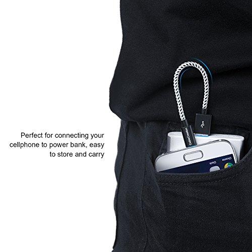 CableCreation Kurzes Micro USB Kabel, USB zu Micro-USB, A-Stecker auf Micro-B Schnellladekabel, 24AWG Dreifach Abgeschirmt, Kompatibel mit TV-Stick, Chromecast, PowerBank Android Phone, 15cm/Schwarz