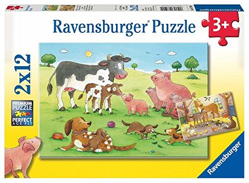 Ravensburger Kinderpuzzle 07590 - Glückliche Tierfamilien - 2 x 12 Teile
